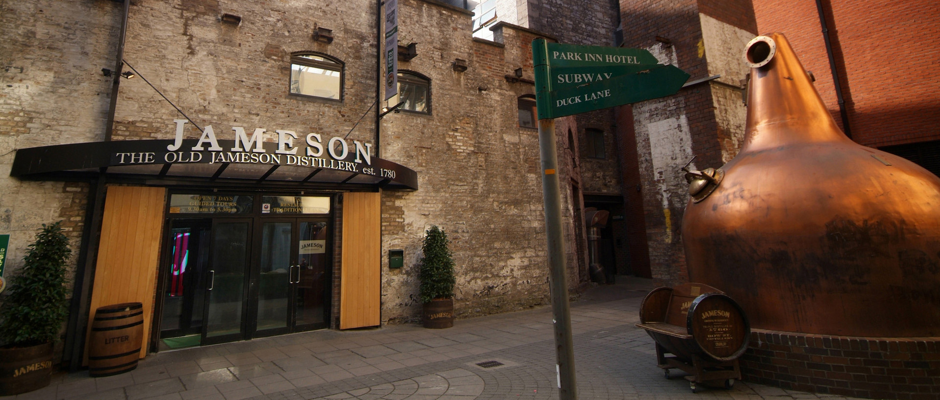 The entrance to Jameson Distillery in Smithfield