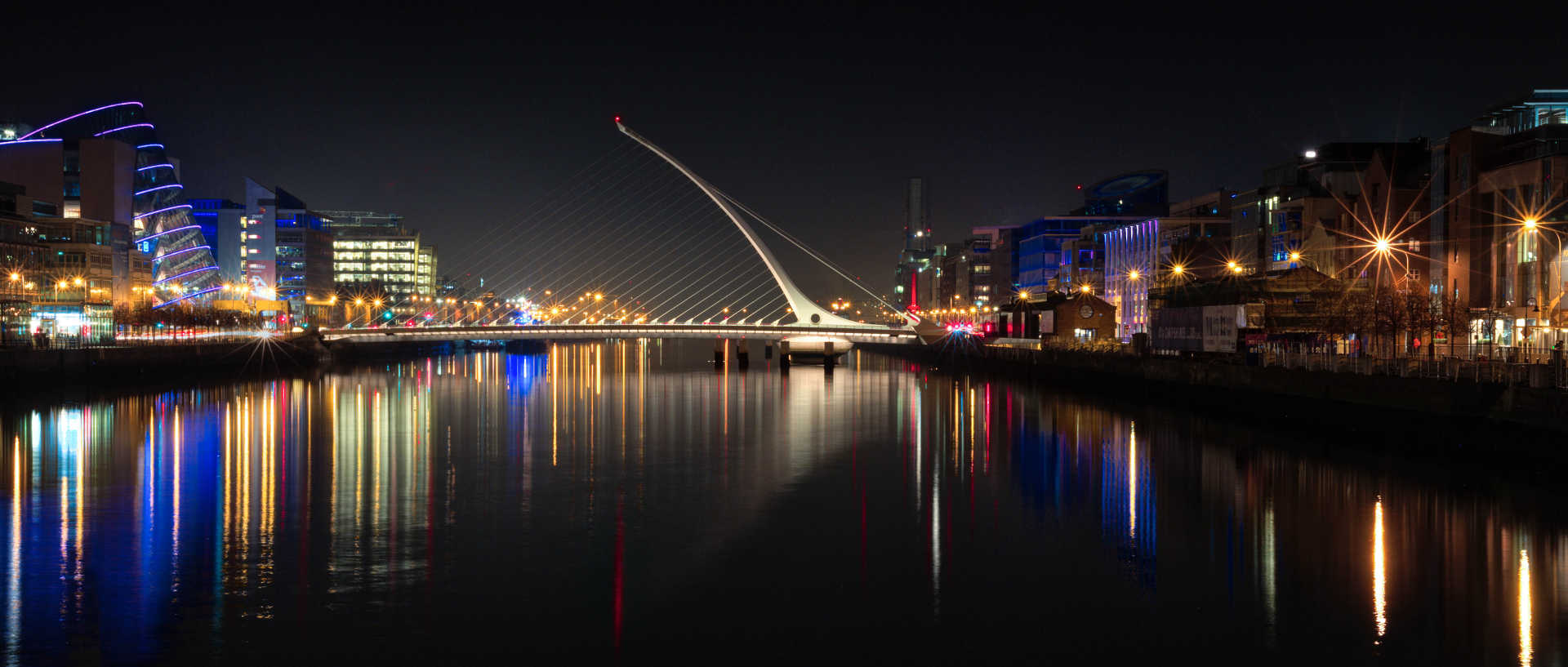 Serviced apartments in Dublin at night