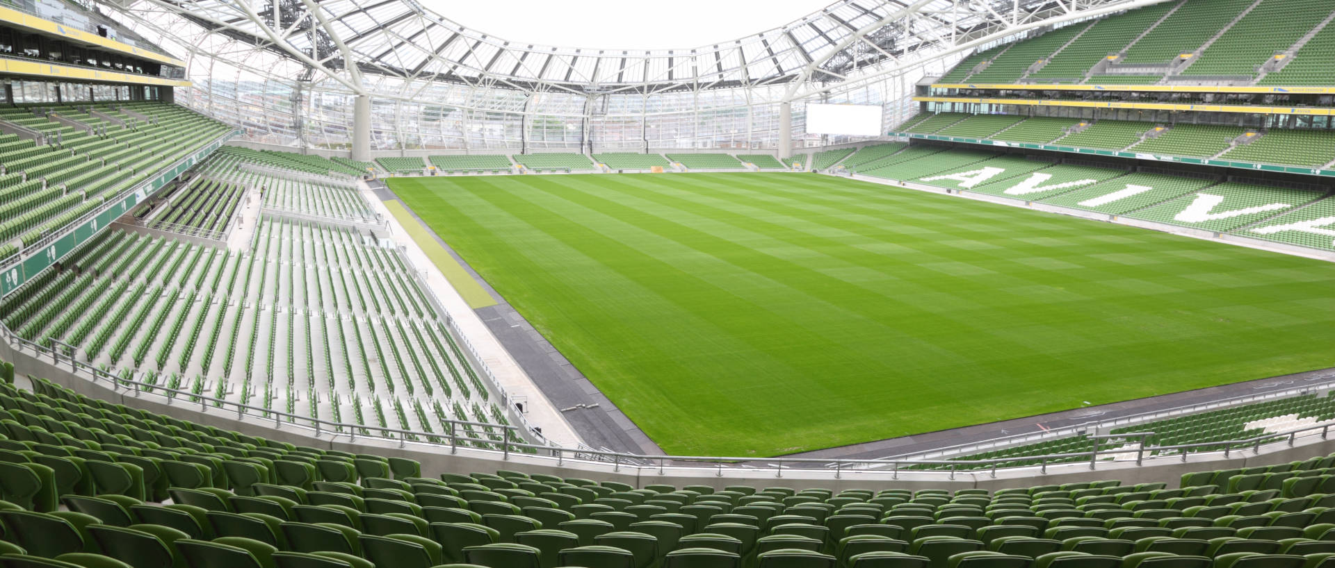 Wide view of the Aviva Stadium Dublin close to PREMIER SUITES Ballsbridge